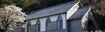 グラスボートと久賀島「旧五輪教会堂」奈留島「江上天主堂」コース