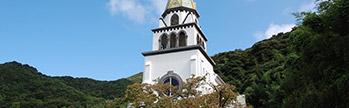 久賀島教会巡り観光船「ソレイユ」利用コース